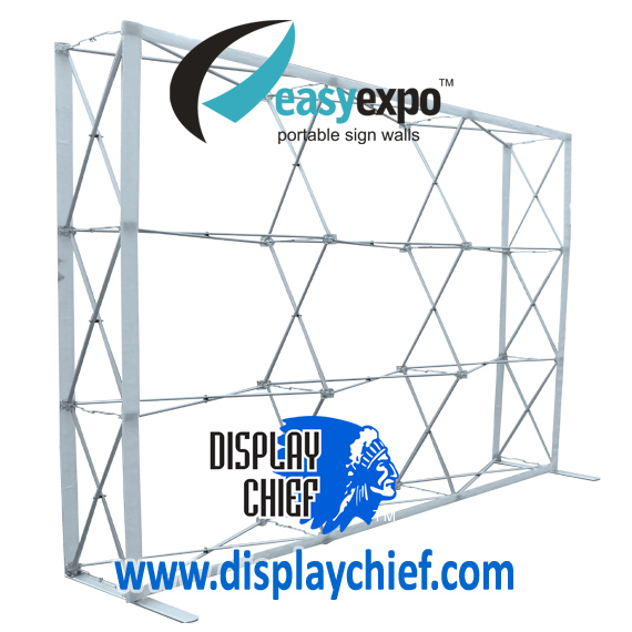 Cut out profile image of Display Chief Fabric Pop Up Wall for sale with carry case