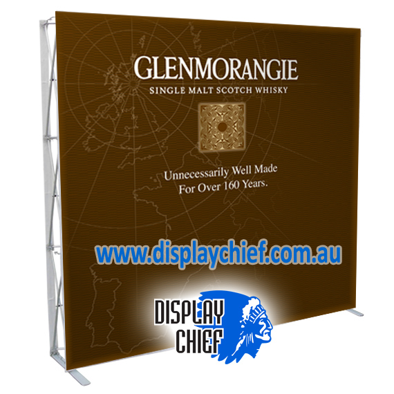 Glenmorangie Display Upright Wall for festival and events